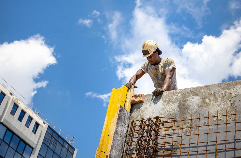 Employé du chantier du Campus Sud des Métiers