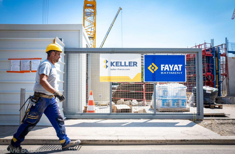 Keller et Fayat Bâtiment sur le chantier du Campus